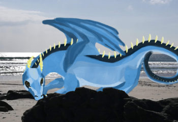 blue sky dragon at the beach