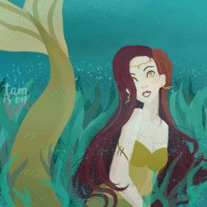 mermaid mood illustration